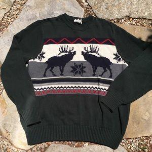 DOCKERS Moose Motif Holiday Ugly Christmas